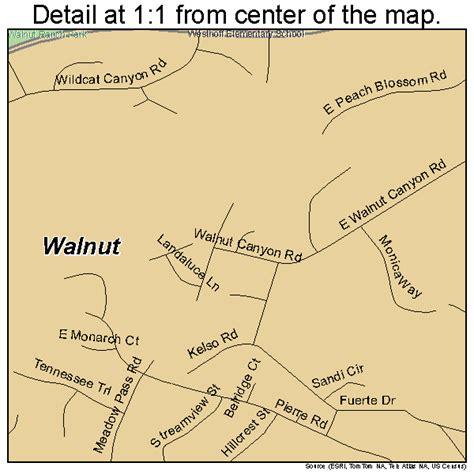 map of walnut california walnut california map 0683332