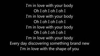 testo i you ed sheeran shape of you lyrics