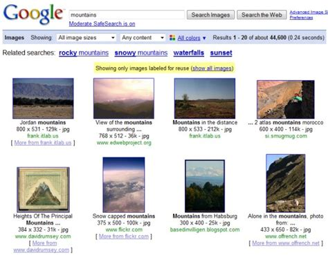 Google Images Creative Commons | find creative commons images in google image search