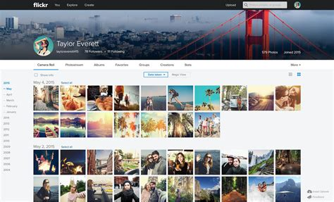imagenes web site flickr redesigns web and mobile apps to create a