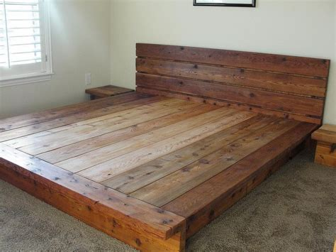 Diy King Platform Bed King Rustic Platform Bed 100 Cedar Wood 2 200 00 Via Etsy House Inspiration Pinterest