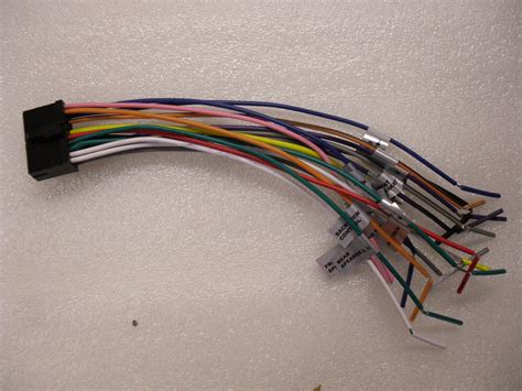 wiring harness for dual car stereo dual 12 pin wire