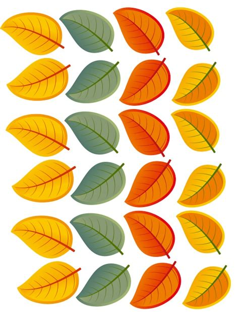 printable colored leaves fall leaf crazy hair