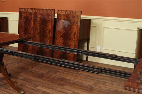 inlaid pedestal mahogany dining table seats 14
