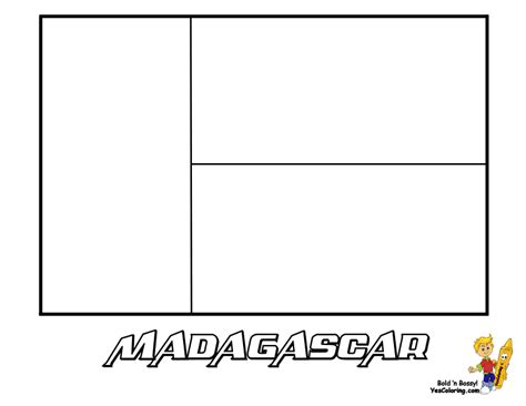 Madagascar Flag Coloring Page flag of madagascar to print out
