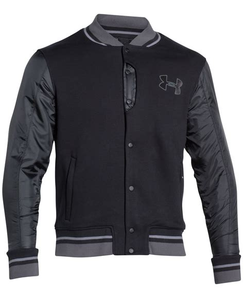 Black Steel Bomber Jacket Armour S Tribeca Bomber Jacket In Black For