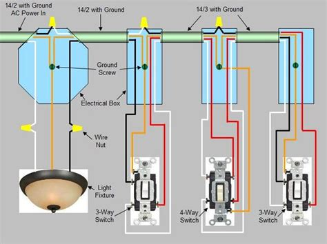 four way light switch 4 way switch installation circuit style 1