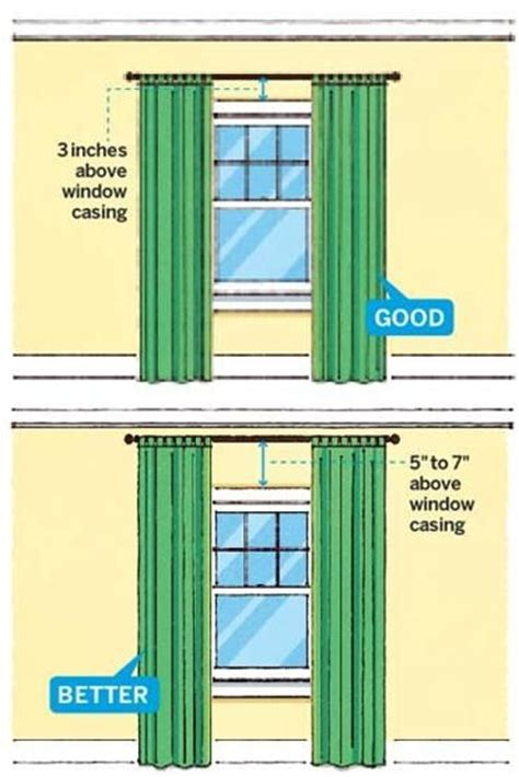 Hanging Curtains Higher Than Window Decor Design Tip Hang Curtains Higher Than The Windows To Make Room Look Bigger Home Decorating