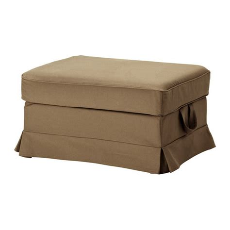 Ottoman Slipcovers Ikea Ektorp Bromma Footstool Slipcover Idemo Light Brown Ottoman Cover