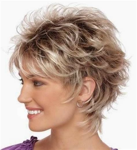 Shagy Short With Silver Highlights Haistyles | messy layered hairstyle for short hair 2014 hair
