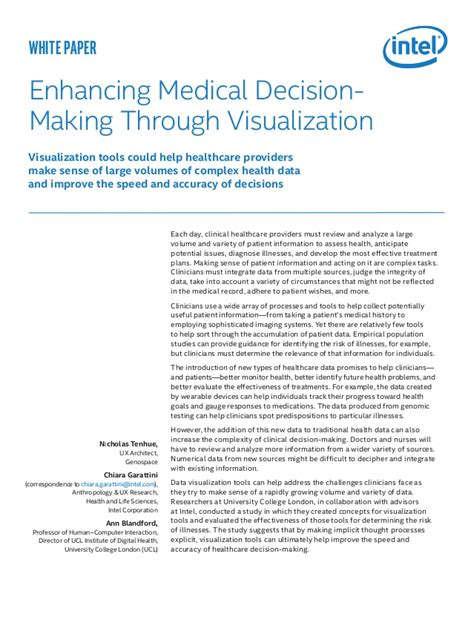 Decision Paper - data visuallization for decision intel white paper