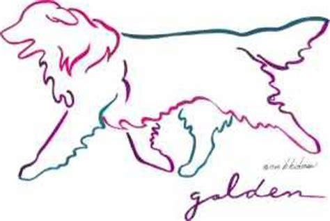 golden retriever outline golden retriever running outline tattoos breeds picture