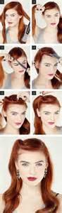 easy vintage hairstyles easy retro hair tutorial love and sayings