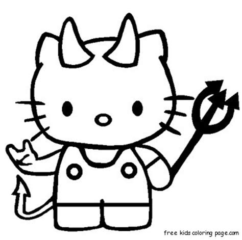 coloring pages of hello kitty halloween print out hello kitty halloween coloring bookfree