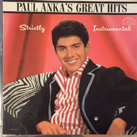 paul anka paul anka paul anka s greatest hits strictly instrumental vinyl lp album at discogs