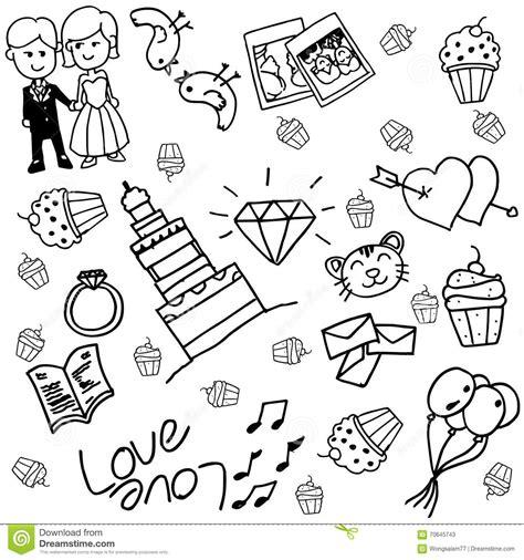 wedding doodle vector free wedding doodle vector stock vector illustration of bells