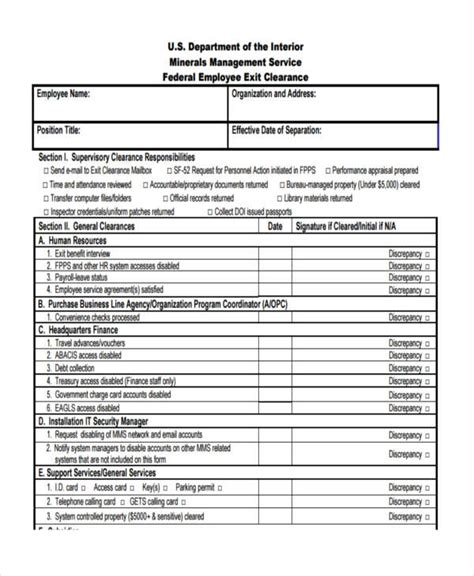 exit form employment exit forms printable related keywords