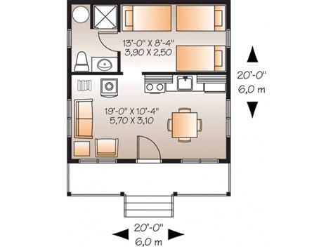 400 sq ft house floor plan eplans country house plan one bedroom country 400