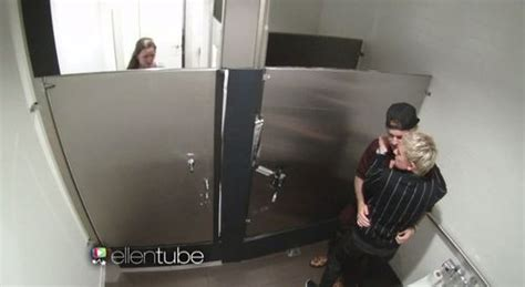 sex videos at bathroom justin bieber and ellen terrify audience members with