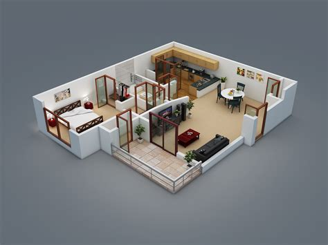 home plan 3d 3d floor plans 171 wazo communications apa pinterest