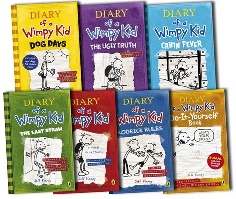 pictures of jeff kinney books diary of a wimpy kid collection 7 books set jeff kinney