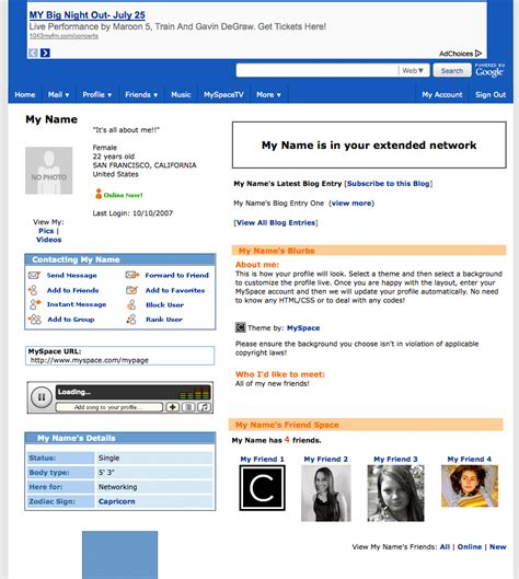 layout editor myspace coolchaser express yourself your own fackbook layouts