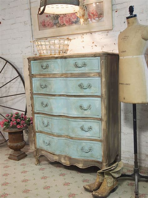 painted cottage chic shabby aqua french dresser ch   painted cottage vintage