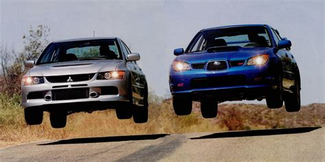 subaru evo 9 mitsubishi evo ix mr vs subaru impreza wrx sti which is