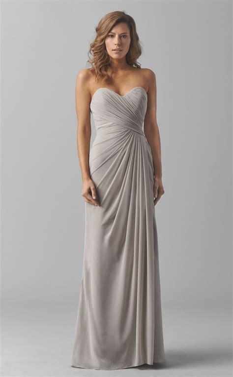 Bridesmaid Dresses Area - silver chiffon sheath empire waist open back