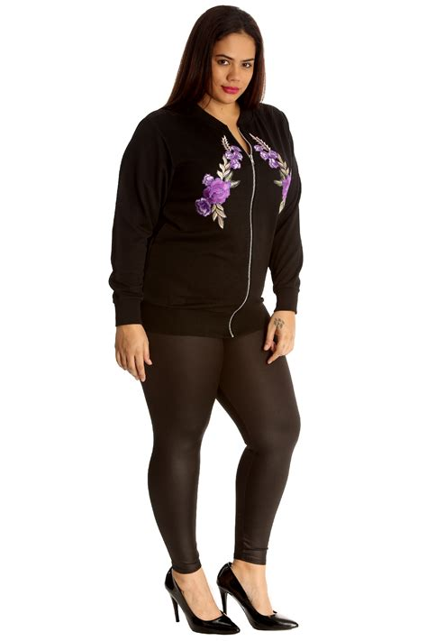 Bomber Flower New 1 new womens bomber jacket floral embroidery flower