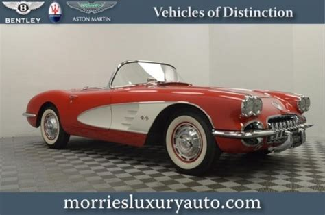 best auto repair manual 1959 chevrolet corvette seat position control 60 c1 corvette in roman red bucket seats 4 speed manual 230hp v8 engine classic other