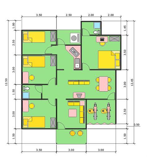 contoh denah rumah sehat gambar rumah minimalis 2014