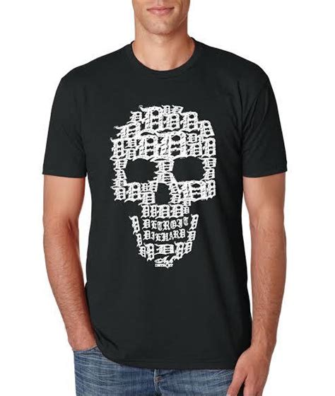 Rustic Coffee Mugs by Detroit Skull T Shirt Black With White Ink Detroit