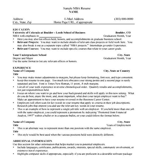 Mba Resume Pdf by Magnificent Mba Resume Book Wharton Pdf Pictures