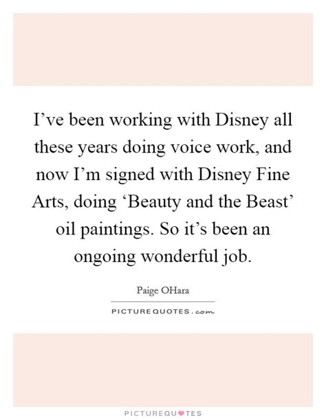 Im Currently Working Three Jobsthe Is Th 2 by I Ve Been Working With Disney All These Years Doing Voice