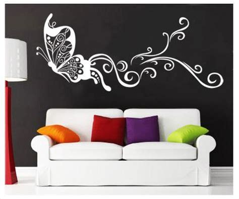 white butterfly wall stickers white large butterfly mural wall stickers vinyl decal home room decor diy ebay