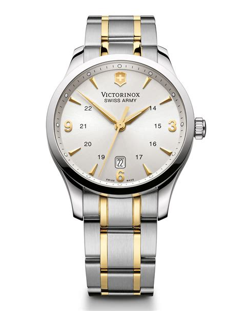 Swiss Army Sa88 White Silver victorinox mens alliance two tone silver and gold