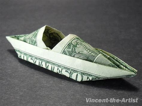 Money Origami Boat - money origami kayaks and dollar bills on