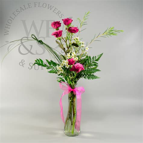 Bulk Flower Vases by Fluted Glass Bud Vase Wholesale Flowers And Supplies