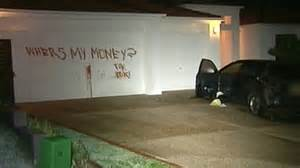 cat garage door cat s blood used to write threat on gold coast house