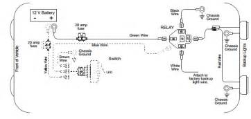 Car Lighting Wiring Diagram Back Up Light Wiring Diagram Auto Info