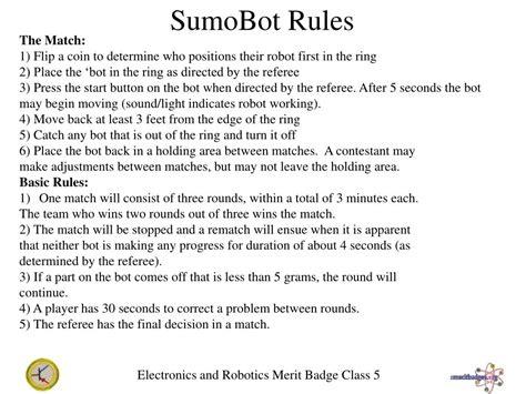 electronics  robotics merit badges powerpoint