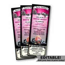 admit one ticket invitation template ticket invitation birthday by