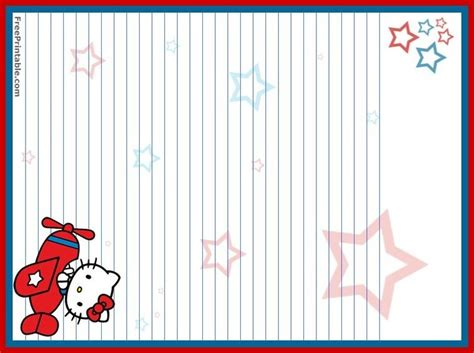 printable hello kitty notebook paper lined paper to print free search results calendar 2015