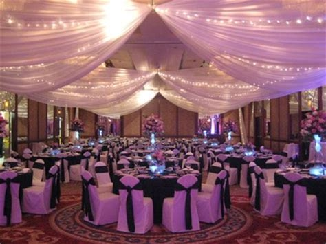 draping for wedding cost vey ugly ceiling in reception hall weddings planning