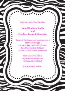 zebra print free invitation template wedding invitation templates printable invitation kits
