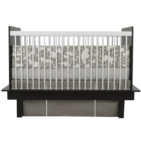 Oilo Crib Bedding Modern Berries 3 Crib Set In Taupe By Oilo
