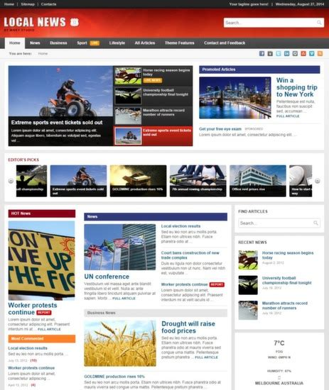newspaper theme mobile top 40 wordpress news themes for newspapers magazines