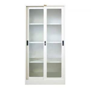 Lemari Kaca Untuk Toko jual lemari arsip pintu sliding kaca type l 33ak harga