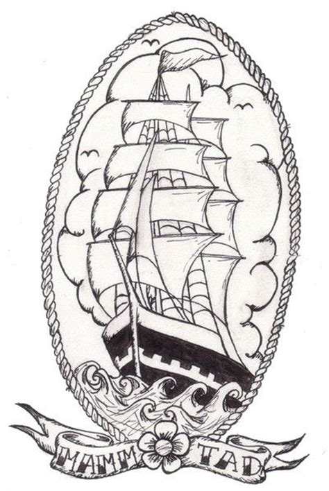 old school ship tattoo designs traditional ship traditional ships